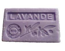 Savon parfumé Marseille huile argan bio Lavande 100g