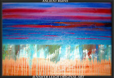 Large ORIGINAL ABSTRACT MODERN ART PAINTING by JLEIGH