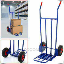 Heavy Duty 272KG 600LB Industrial Hand Sack Truck Cart Trolley Pneumatic Tyres