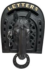 Metal Wall Mounted Horse Post Box Letter Box - Black
