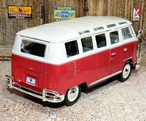 Maisto Special Edition Volkswagen Van Samba Red scale 1:25 model car diecast