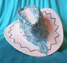 Light Pink Cowboy Cowgirl SHOW HAT Rodeo Horse Show One Size