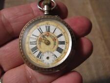 ███►alte Damen - Bauerntaschenuhr/Silber -- aus Sammelauflösung