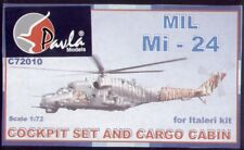 Pavla 1/72 MiL Mi-24D and troop cabin, floor, wheels etc # C7201