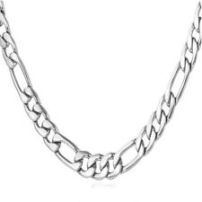 Hip Hop Men's Boys Stainless Steel Figaro Link Chain Necklace Jewelry 6mm 24""