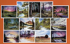 BOB ROSS, 3-disc DVD SET, Series 6 Teaches13 Paintings, WITH OILS
