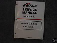 MERCRUISER SERVICE MANUAL'S--ENGINES--GM 4 CYLINDER