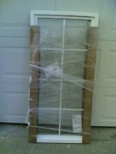 New White Vinyl Home Fixed Picture Window w/ Double-Strength Glass & Grids 26x53