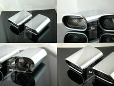 BMW X5 DUAL EXHAUST TIPS STAINLESS CHROME 3.0L E53 BOLT ON, EASY UPGRADE PIPE