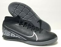 SZ 8.5 Nike Mercurial Superfly 7 Academy IC Black Indoor Soccer AT7975-001 Mens