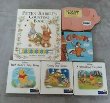 6 Baby Young Children Board Books Peter Rabbit Winnie The Pooh & Others