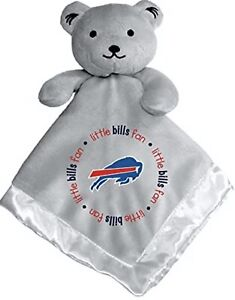 Buffalo Bills Baby Gray Security Bear Blanket, NFL Officially Licensed 4X14