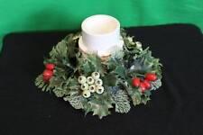 Himark Christmas Tea Light Burner Holly Wreath Holidays Decorative Collectible