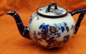 Antique Ceramic Victorian Doulton Burslem Nankin Teapot C1895