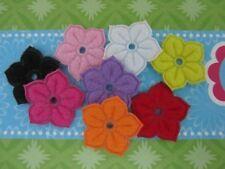 80 Spring Color Felt Embossed Flower with Hole Applique/Scrapbooking/Craft L47