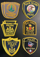 12 Police Patches Collect And Trade Patch Lot