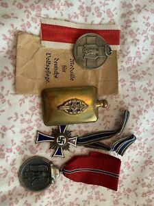 German Medals WW2 brass bottle