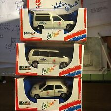 3 SOLIDO MADE IN FRANCE RENAULT EXPRESS/EXPRESS/CLIO/J O ALBERTVILLE 1992 NEUVES