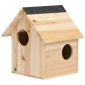 vidaXL Solid Firwood Squirrel House Small Animal House Habitat Cage Supply