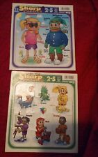 Lot of 2 Puzzle Patch Preschool Frame Tray Puzzles 12 piece vintage 1996