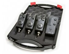 Saber B1 3+1 Wireless Bite Alarm Set Carp Coarse Fishing Alarms Receiver + Case
