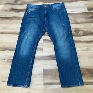 American Eagle Relaxed Straight Leg Jeans 38 x 32 Dark Wash