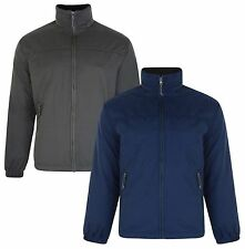 FARAH Mens Padded Jacket Khaki Green & Navy Blue Outoor Warm Coat