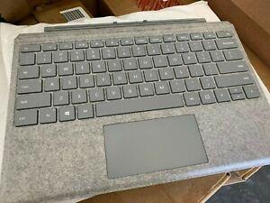 OB Microsoft Surface Pro 6, 5, 4, 3 Alcantara Signature Type Cover Platinum Gray