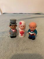 Elc Happyland Wedding Figures Inc Bride, Groom & Vicar #2