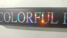 holographic PRISM COLOR vanity TAG CUSTOM TEXT CUSTOMIZED License Plate Frame