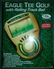 EAGLE TEE GOLF GAME Handheld Video Rolling Track Ball L ike New Free Shipping