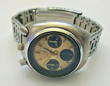 Mens Vintage Citizen Bullhead Gold Dial Chronograph Watch 8110