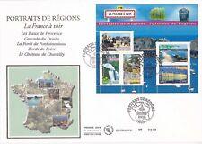 Enveloppe grand format 1er jour 2007 Portraits de Régions La France à Voir 1