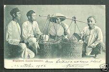 Singapore 92 Javanese Meat Seller sate ayam ca 1899