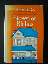 "Gabrielle Roy  "" Streets of Riches ""  Mc Clelland & Stewart  1957 1st edition"