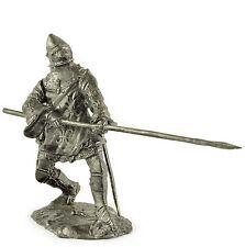 France. Knight 15Cen Tin toy soldiers. 54mm miniature figurine. metal sculpture