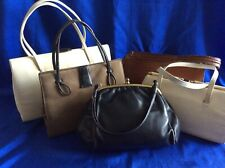 Collection/Bundle 5 Vintage Leather Kelly Bags-Made In England-C1950/60's.