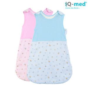 Baby Schlafsack von iQ-med® | 100% Baumwolle | Fußsack, Pucksack, Babyschlafsack