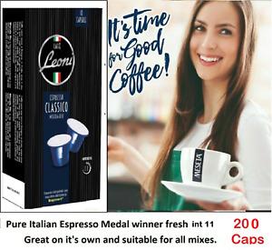 200 Nespresso coffee capsules compatible by Meseta Best Italy Flavor Classico