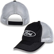 Ford Oval Black and Gray Mesh Hat Trucker Style, Unstructured