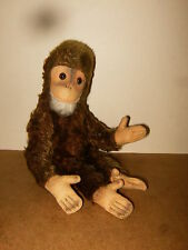"""ancien / vintage - ? STEIFF JOCKO ? - stuffed monkey singe peluche - 11"""" / 28cm"""