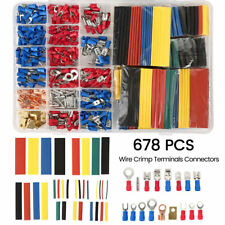 678X Assorted Electrical Wire Connectors Crimp Terminals Combo 10-22GA AWG Guage