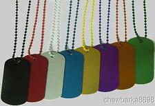 "50 colored 24"" bead chain #3 Ball Chain Ballchain with Anodized aluminum GI Tags"