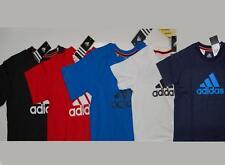 Adidas Kinder T-Shirt Basic Tee ESS LOGO blau schwarz weiß rot Gr. 104 - 176 NEU