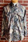 Men's Sz L True Timber Lightweight Vented Breathable Long Sleeve Camo Shirt
