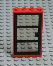 LEGO Tür mit Rahmen 60596 rot schwarz Türe door Feuerwehr City Ninjago Tür1