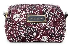 NWT Marc Jacobs Quilted Nylon Small Travel Pouch Cosmetic Bag Aubergine Purple