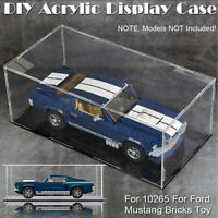Transparent Acrylic Display Case For LEGO 10265 For Ford Mustang Bricks Toy ∮ Z̶