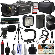 Canon XA30 HD Professional Video Camcorder + 128GB + Tripod + Monopod + Battery