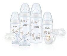 NUK Start plus Babyflaschen Erstausstattung für Flaschennahrung 0-6m